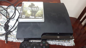PS3 WITH 2 CONTROLLERS + CALL OF DUTY 4 & SONIC