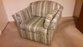Bed settee, double size plus 2 arm chairs. Very good condition.