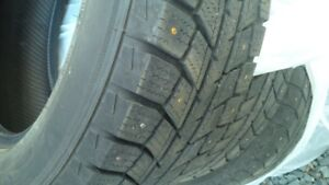 4 Winter studed tires 1 year old for sale