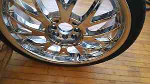 "18 "" 4 bolt universal chrome rims Stratford Kitchener Area image 2"