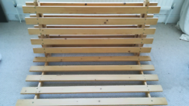Futon frame and natural handmade organic mattress - London collection