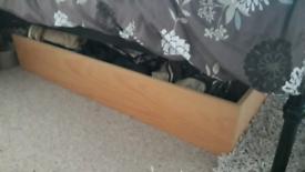 Wooden under bed storage drawer