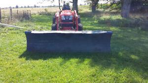 Quick attach plow 9' -full angle-Skid steer,Kioti, Kubota, SSQA