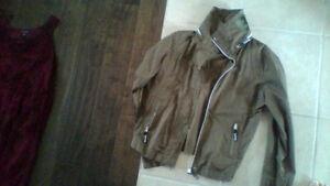 Leather jacket $20,BENCH $35,Kathy van Zealand purse $20,
