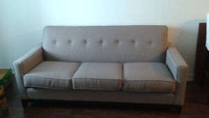 Grey high quality- Canadian made- Slim design couch