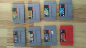 Super nintendo games for sale or trade