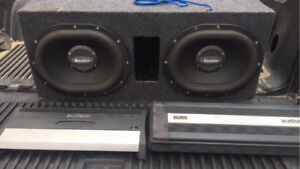 Boston oval subs with audison amps