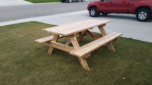 6ft knotty cedar picnic tables