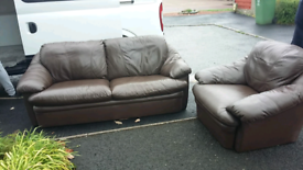 Brown Leather seattees