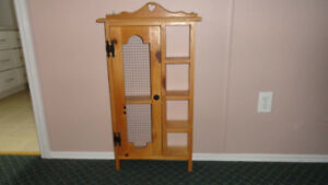 "TRINKET CABINET.......SOLID WOOD....34"" X 18"" WIDE"