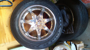 Tires and rims for sale.