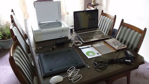 "HP Pavilion dv7-1174ca 17.1"" Laptop/Lapdesk/Printer/Router"