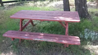 FREE: Rotten Picnic Tables. Use for DIY or Firewood??