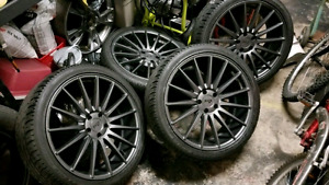 20 Inch Real Niche 157 Rims - 5x112 + Falken Tires 70% Tread
