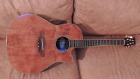 *** Sweet rare burled wood Ovation acoustic electric guitar ***