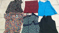 Bag of Womens assorted tops - Sizes Small and Medium
