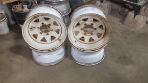 """16 """" White Spoke Wheels"""