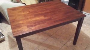 Solid wood kitchen table no chairs