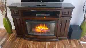 Solid Wood Fireplace Mantle with Electric Insert