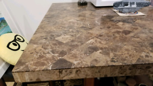 Stone top table with 4 chairs