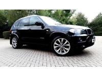 BLACK BMW X5 3.0 30sd M SPORT LOW MILEAGE TWINTURBO BROWN LEATHER CAMERA REMAP