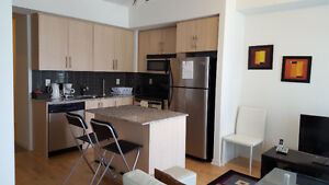 Downtown Furnished Downtown 1 Bedroom + Den Suite