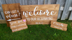 Custom wooden Wedding signs - customized for your wedding