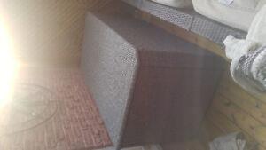 Grey Rattan Deck Storage Box