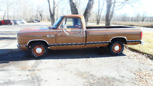 81 DODGE TK,318/AUTO*66900 ORIG KMS,NEW PAINT*