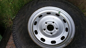 Complete set of studded & Nitrogen filled winter tires on rims