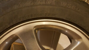 BLIZZAK WS60-225/55R16 95R Winter Tires & Rims Balanced Strathcona County Edmonton Area image 2