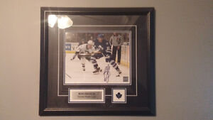 Autographed ron francis toronto maple leafs picture