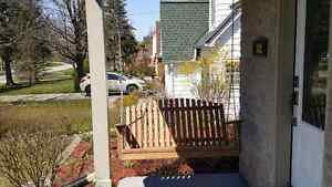 Beautiful  custome hand crafted porch swing Stratford Kitchener Area image 3