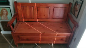 Maple or Pine Bench with Storage