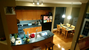 Comple kitchen, oak cabinets with sink