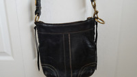 Coach authentic leather cross body bag