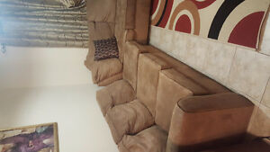 Beautiful Suede Sectional Sofa Set