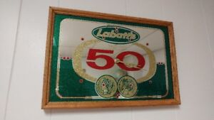 Labatt 50 Bar Sign Clock Circa 1970's