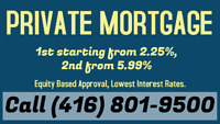 2nd Mortgage from 5.99% only. Call or Text me at (416) 801-9500