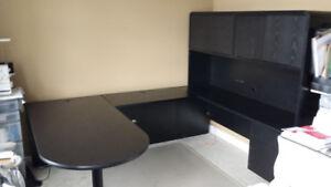 Black Credenza Office Furniture Suite