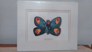 SEALED ANNE GEDDES MATTED LITHOGRAPH PRINT CARLIN AS A BUTTERFL