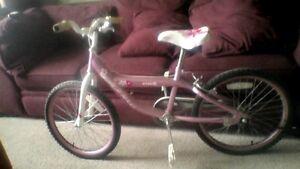 Girls Bonelli 1-spd bike, 20 inch tires, hand & foot braking
