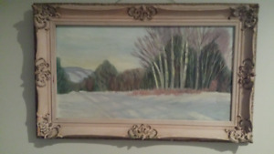 Vintage Wood Frame with Painting