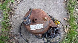 .33hp, 115 volt 10.3 amp sump pump