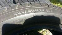 (4) 225/50/18 Michelin winter tires ex. shape 90% tread