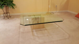 Beautiful Glass & Marble Coffee Table