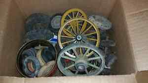 Box Lot of Vintage Tires Wheels for Old Toys