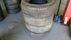 Set of 4 Continental Contitrac TR LT275/70R18 tires (50% tread l