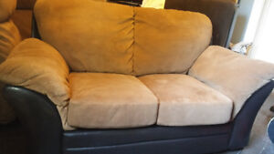 LEATHER & SUEDE COUCH & LOVESEAT MUST GO