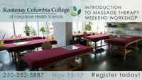 Introduction To Massage Therapy Weekend Workshop